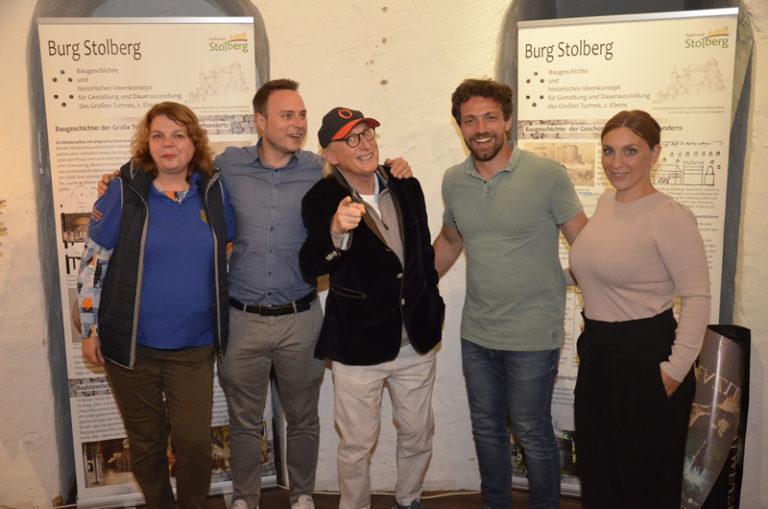 Otto Walkes mit Bürgermeister Patrick Haas